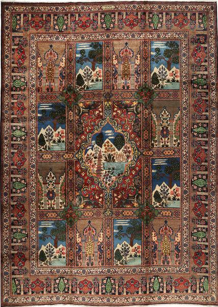 タブリーズ 絨毯 351X470 オリエンタル 手織り 黒/濃いグレー 大きな (ウール, ペルシャ/イラン)