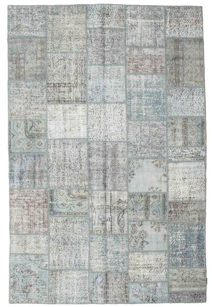 Patchwork Rug 198X300 Authentic  Modern Handknotted Light Grey/Beige (Wool, Turkey)