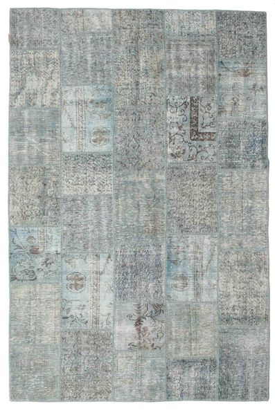 Patchwork Rug 197X301 Authentic  Modern Handknotted Light Grey/Dark Grey (Wool, Turkey)