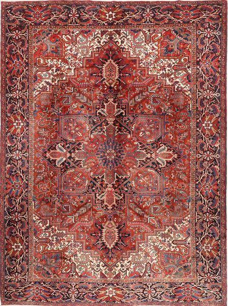 Heriz Matto 292X383 Itämainen Käsinsolmittu Ruskea/Tummanpunainen Isot (Villa, Persia/Iran)