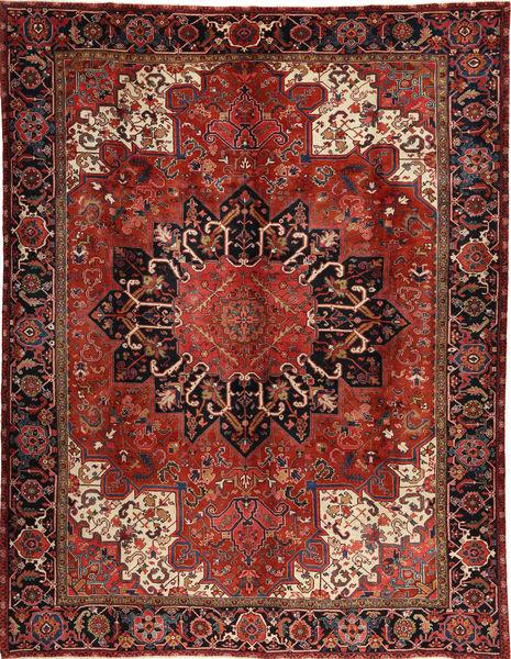 Heriz Teppe 295X380 Ekte Orientalsk Håndknyttet Mørk Rød/Svart Stort (Ull, Persia/Iran)