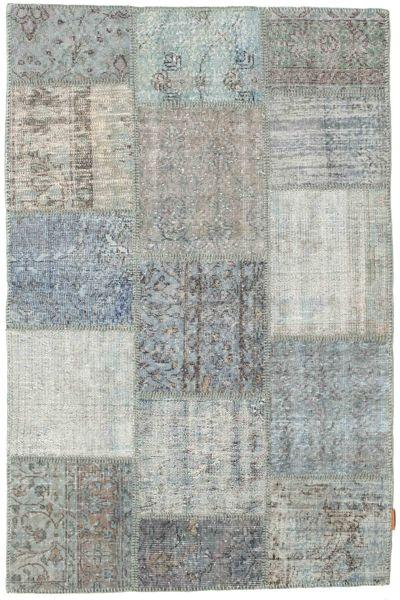 Patchwork Rug 118X181 Authentic  Modern Handknotted Light Grey/Light Green (Wool, Turkey)