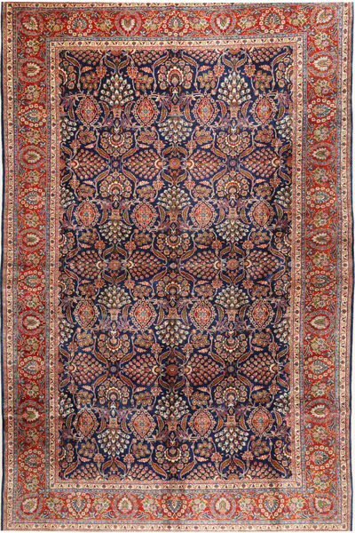 Sarouk Rug 304X488 Authentic  Oriental Handknotted Dark Grey/Dark Red Large (Wool, Persia/Iran)