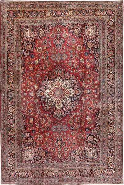 Keshan Matta 233X356 Äkta Orientalisk Handknuten Mörkröd/Mörkbrun (Ull, Persien/Iran)