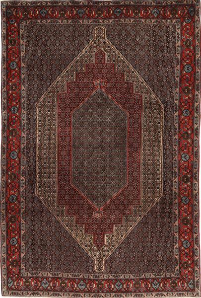 Senneh Dywan 203X305 Orientalny Tkany Ręcznie Ciemnobrązowy/Brązowy (Wełna, Persja/Iran)