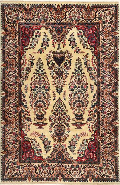 Kashmar Matta 197X300 Äkta Orientalisk Handknuten Mörkbrun/Svart (Ull, Persien/Iran)