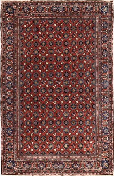 Varamin Rug 210X325 Authentic  Oriental Handknotted Dark Red/Dark Grey (Wool, Persia/Iran)