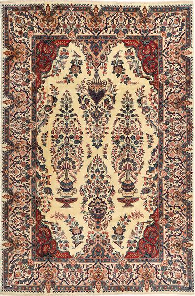 Kashmar Dywan 197X300 Orientalny Tkany Ręcznie Ciemnobeżowy/Czarny (Wełna, Persja/Iran)