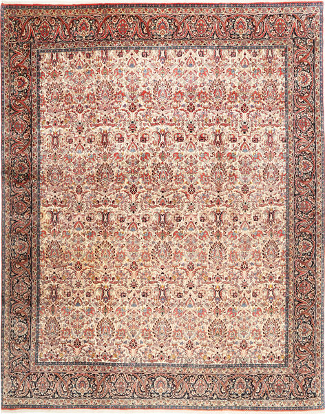 Bidjar Rug 305X380 Authentic  Oriental Handknotted Light Brown/Light Pink Large (Wool, Persia/Iran)