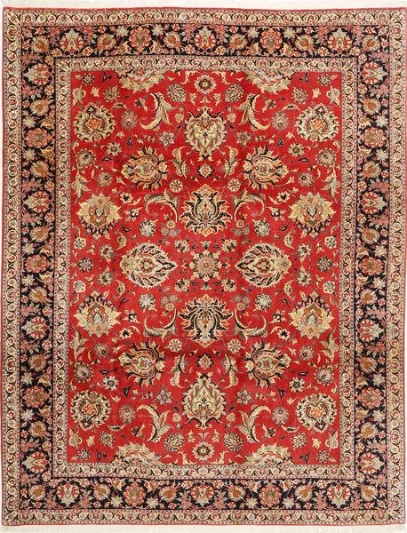 Bidjar Koberec 312X402 Orientální Ručně Tkaný Tmavě Červená/Červenožlutá/Světle Hnědá Velký (Vlna/Hedvábí, Persie/Írán)