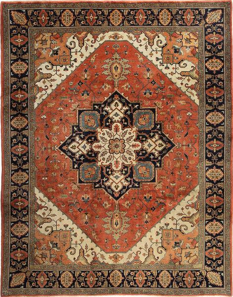 Heriz Matto 271X338 Itämainen Käsinsolmittu Tummanruskea/Vaaleanruskea/Oranssi Isot (Villa, Persia/Iran)