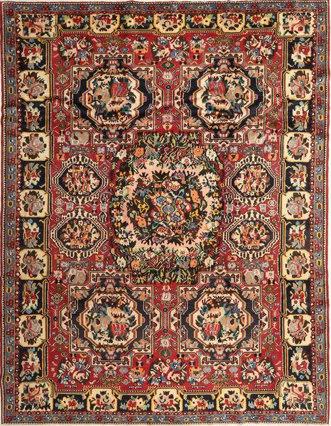 Bakhtiar Tapis 263X336 D'orient Fait Main Marron Foncé/Rouge Foncé Grand (Laine, Perse/Iran)