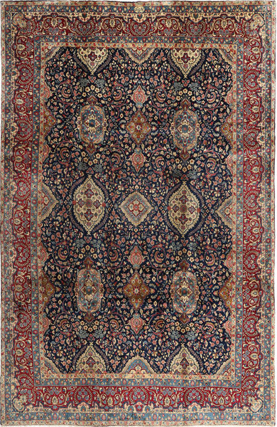 Yazd Rug 250X380 Authentic  Oriental Handknotted Black/Light Brown Large (Wool, Persia/Iran)