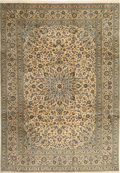 Keshan Matto 253X358 Itämainen Käsinsolmittu Vaaleanruskea/Tummanharmaa Isot (Villa, Persia/Iran)