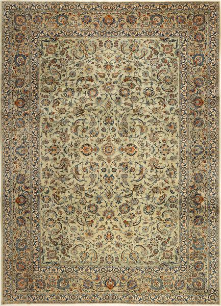 Keshan Rug 262X370 Authentic  Oriental Handknotted Light Brown/Dark Beige Large (Wool, Persia/Iran)