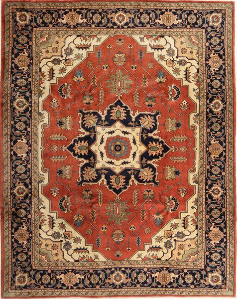 Heriz Tapis 276X350 D'orient Fait Main Marron/Rouille/Rouge Grand (Laine, Perse/Iran)