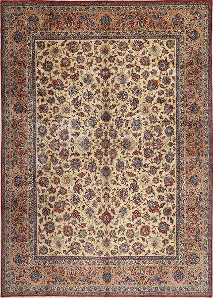 Yazd Allekirjoitettu: Binesh Matto 303X435 Itämainen Käsinsolmittu Vaaleanruskea/Tummanruskea Isot (Villa, Persia/Iran)