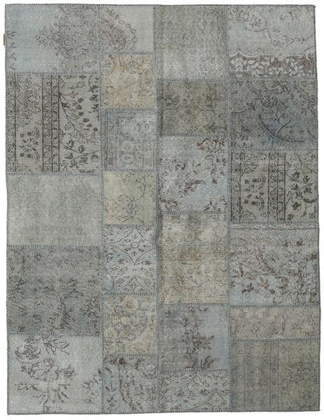Patchwork Tapete 171X231 Moderno Feito A Mão Cinzento Claro/Cinza Escuro (Lã, Turquia)