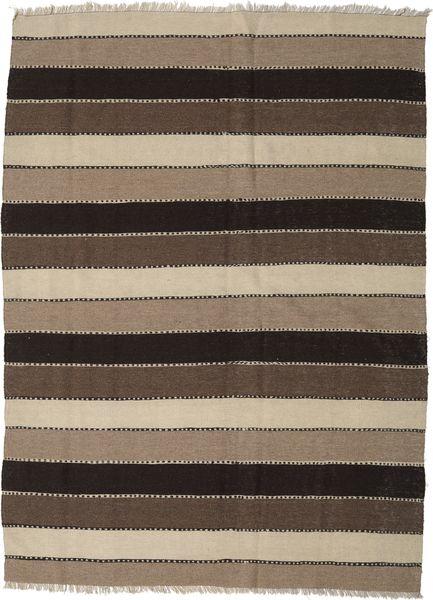 Kilim Rug 182X245 Authentic  Oriental Handwoven Light Grey/Dark Brown (Wool, Persia/Iran)