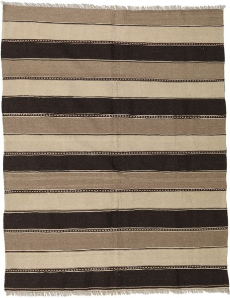 Kilim Rug 157X197 Authentic  Oriental Handwoven Light Grey/Black (Wool, Persia/Iran)