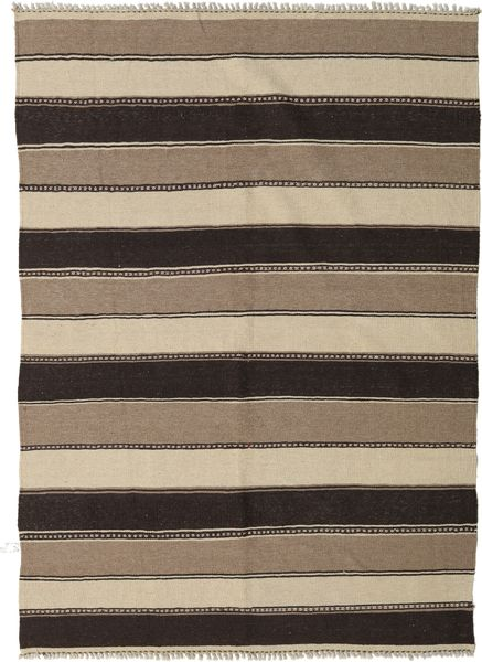 Kilim Rug 145X205 Authentic  Oriental Handwoven Light Grey/Black (Wool, Persia/Iran)