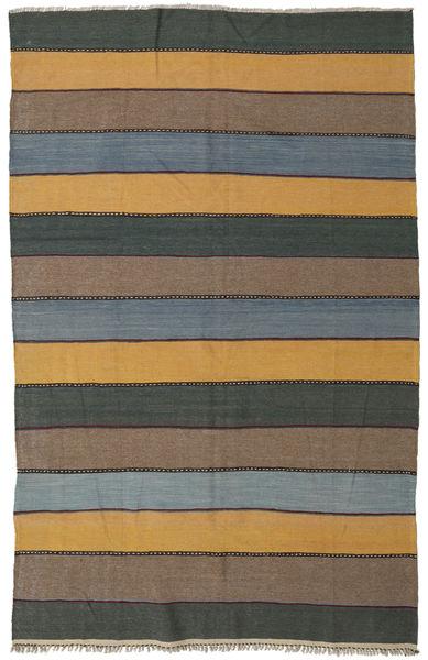 Kilim Rug 168X257 Authentic  Oriental Handwoven Dark Grey/Light Brown (Wool, Persia/Iran)