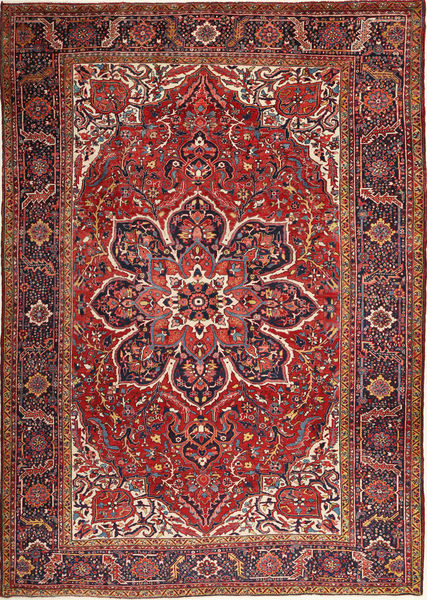 Heriz Rug 280X398 Authentic  Oriental Handknotted Dark Red/Brown Large (Wool, Persia/Iran)