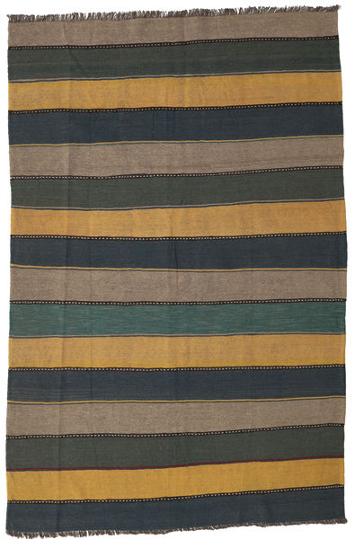 Kilim Rug 168X255 Authentic  Oriental Handwoven Dark Grey/Light Brown (Wool, Persia/Iran)