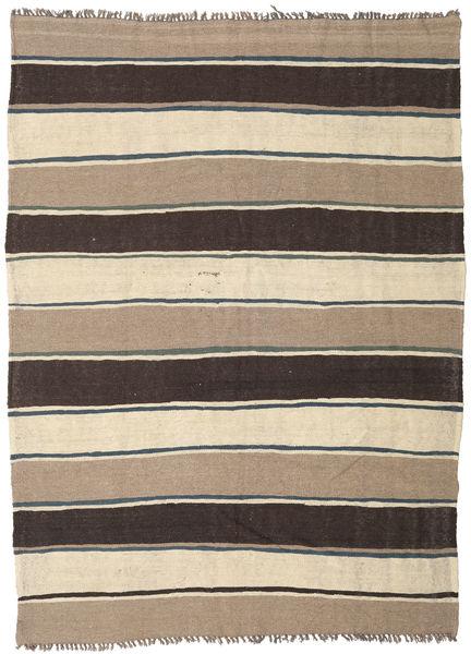 Kilim Rug 185X253 Authentic  Oriental Handwoven Dark Grey/Beige (Wool, Persia/Iran)
