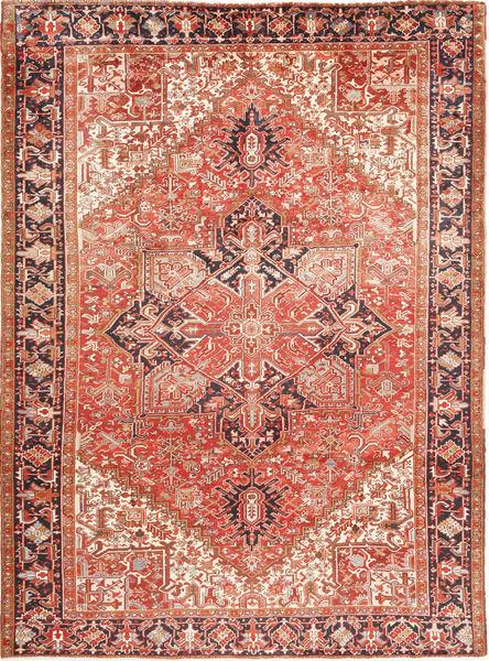 Heriz Matto 280X380 Itämainen Käsinsolmittu Vaaleanruskea/Ruoste Isot (Villa, Persia/Iran)