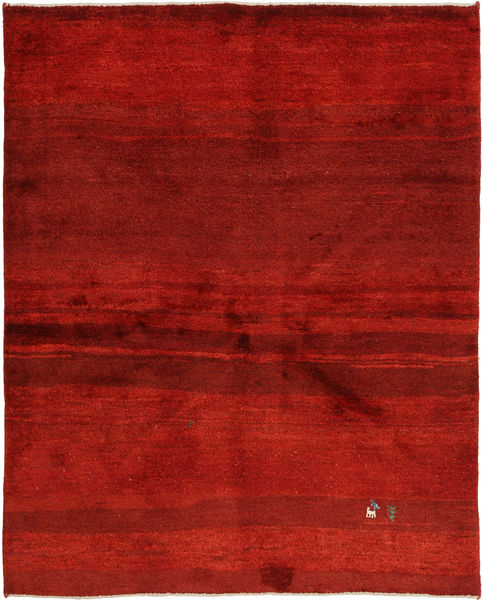 Gabbeh Persia Rug 154X196 Authentic  Modern Handknotted Rust Red/Dark Red (Wool, Persia/Iran)