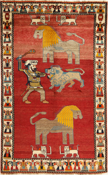 Qashqai Rug 151X244 Authentic  Oriental Handknotted Rust Red/Light Brown (Wool, Persia/Iran)
