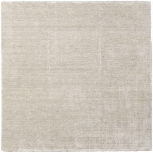 Handloom Fringes - Greige Rug 250X250 Modern Square Light Brown Large (Wool, India)