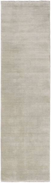 Handloom Fringes - Greige Rug 80X250 Modern Hallway Runner  Light Grey (Wool, India)