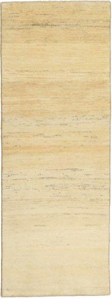 Gabbeh Persisk Matta 77X220 Äkta Modern Handknuten Hallmatta Gul/Beige (Ull, Persien/Iran)