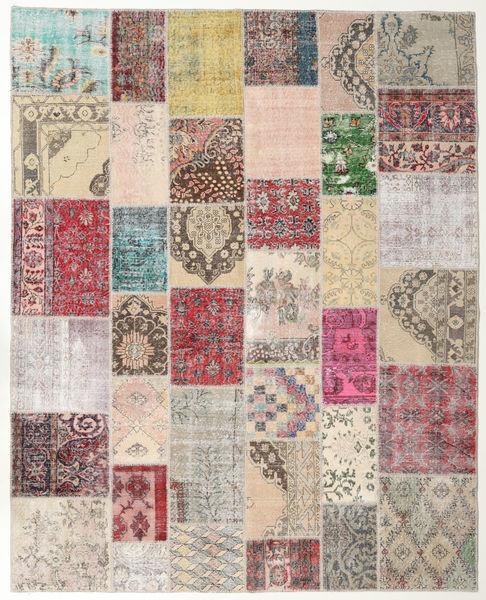 Patchwork Tapis 247X307 Moderne Fait Main Gris Clair/Marron (Laine, Turquie)