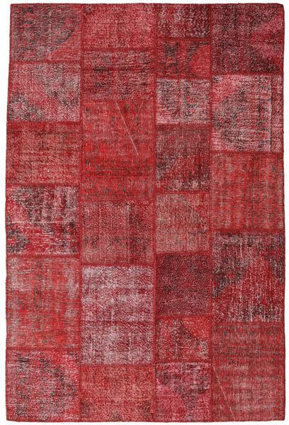 Patchwork Rug 198X300 Authentic  Modern Handknotted Dark Red/Brown (Wool, Turkey)