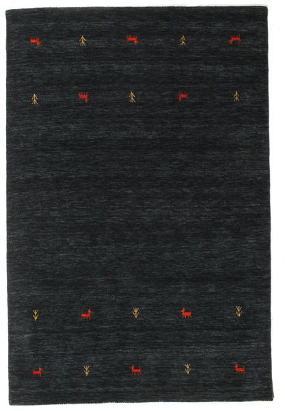 Gabbeh Loom Two Lines - Černá/Šedá Koberec 160X230 Moderní Černá (Vlna, Indie)