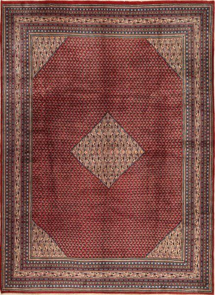 Sarough Mir Matto 280X385 Itämainen Käsinsolmittu Tummanpunainen/Vaaleanruskea Isot (Villa, Persia/Iran)