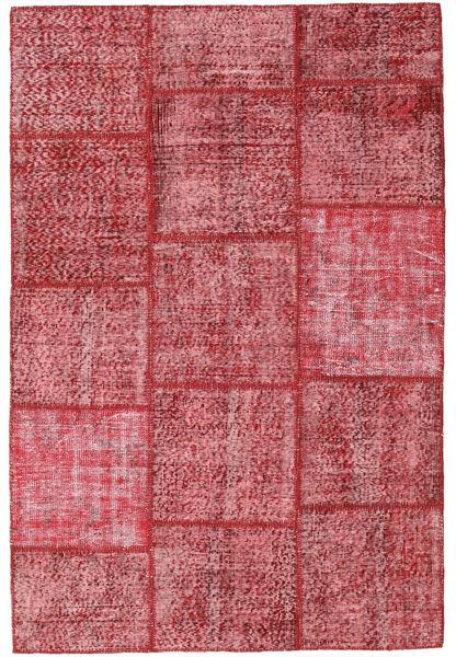Patchwork Matto 156X233 Moderni Käsinsolmittu Pinkki/Ruoste/Tummanpunainen (Villa, Turkki)