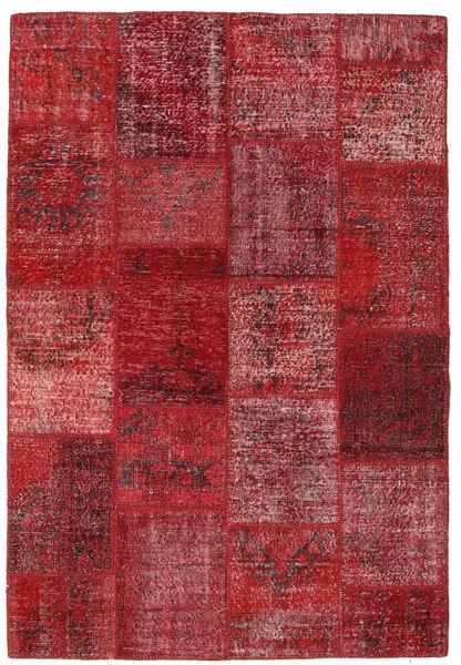 Patchwork Rug 157X230 Authentic  Modern Handknotted Dark Red/Crimson Red (Wool, Turkey)