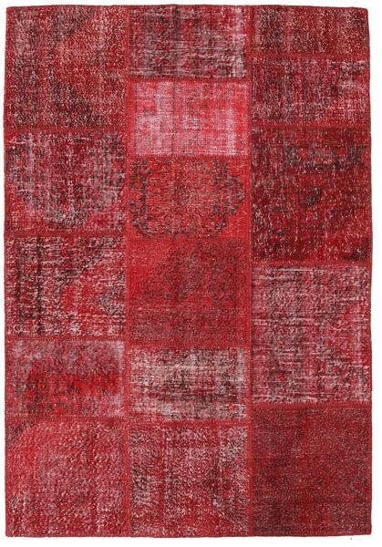 パッチワーク 絨毯 159X231 モダン 手織り 深紅色の/赤 (ウール, トルコ)