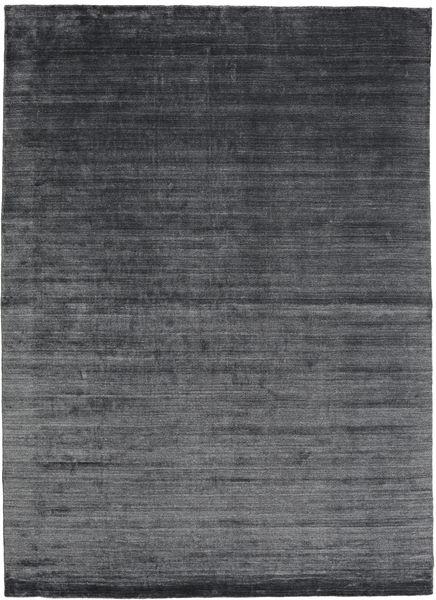 Bambou Soie Loom - Charcoal Tapis 200X300 Moderne Gris Foncé/Bleu Foncé ( Inde)