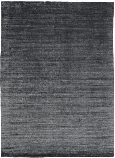Bambu Silke Loom - Kolgrå Matta 200X300 Modern Svart/Lila/Mörkgrå ( Indien)