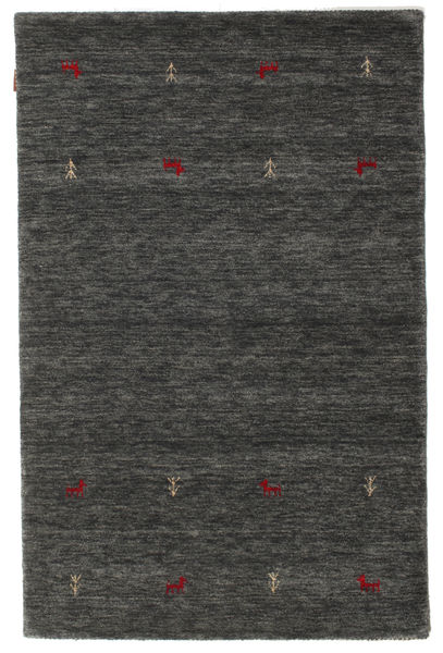Gabbeh Loom Two Lines - Medium Gri Covor 120X180 Modern Gri Închis/Negru (Lână, India)