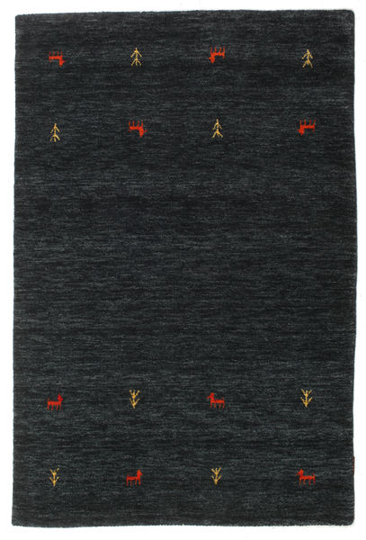 Alfombra Gabbeh loom Two Lines - Negro / Gris CVD16765