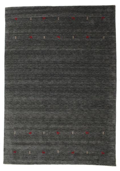 Gabbeh Loom Two Lines - Medium Szary Dywan 190X290 Nowoczesny Ciemnoszary/Ciemnozielony (Wełna, Indie)