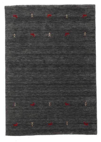 Gabbeh Loom Two Lines - Medium Grå Teppe 140X200 Moderne Mørk Grå (Ull, India)