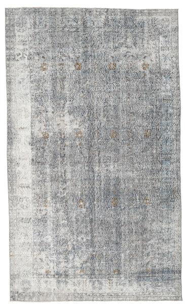 Colored Vintage Rug 173X295 Authentic  Modern Handknotted Light Grey/Dark Grey (Wool, Turkey)