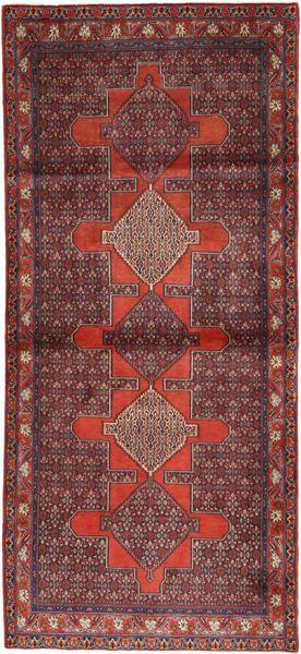 Senneh Rug 122X275 Authentic  Oriental Handknotted Hallway Runner  Brown/Dark Red (Wool, Persia/Iran)